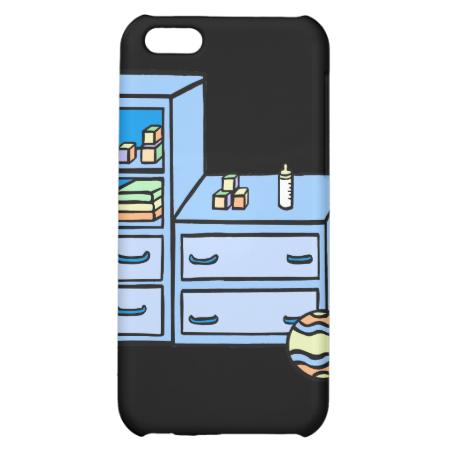dresser blue iPhone 5C cover
