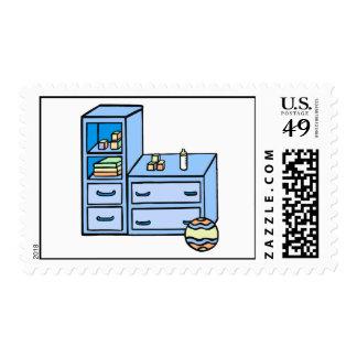 dresser blue postage stamp