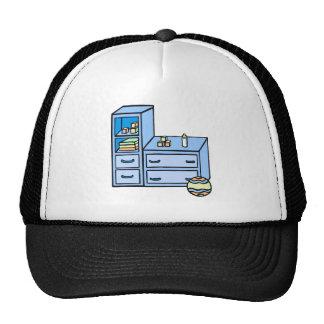 dresser blue trucker hat
