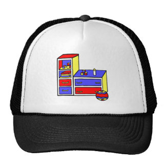 dresser primary colored trucker hat