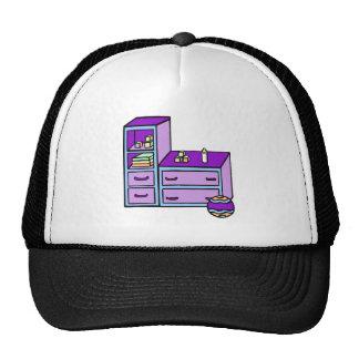 dresser purple blue trucker hat