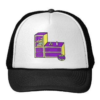 dresser yellow purple trucker hat