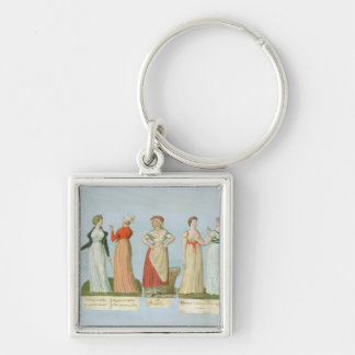 Dresses and costumes in vogue keychain
