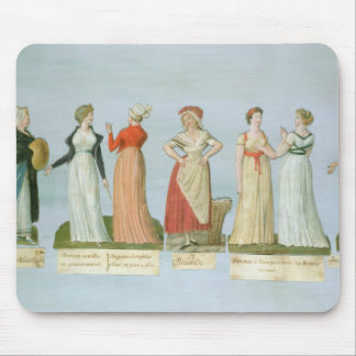 Dresses and costumes in vogue mouse pad