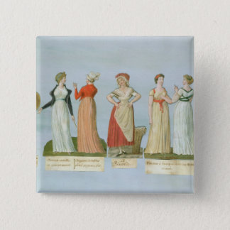 Dresses and costumes in vogue pinback button