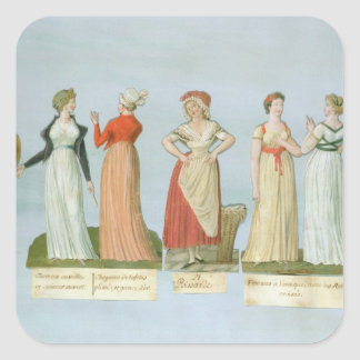 Dresses and costumes in vogue square sticker