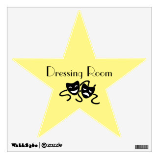 """""""Dressing Room"""" Peel and Stick Decal Room Graphic"""