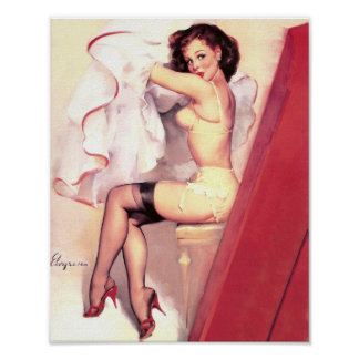 Dressing Room Pin Up Poster
