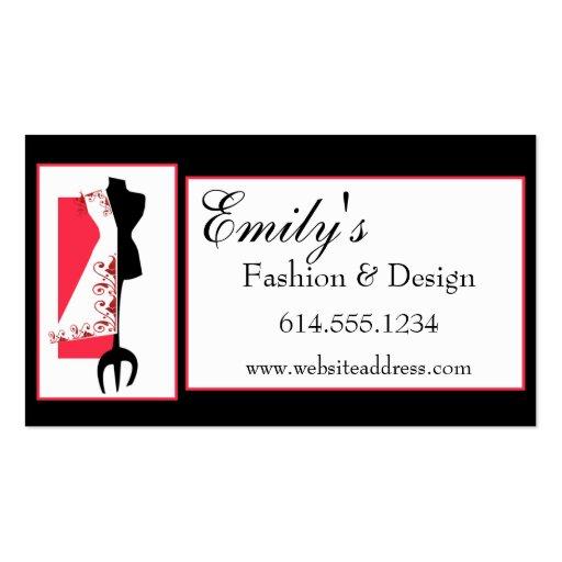 Dressmaker #2 D2 Fashion Sewing Business Cards