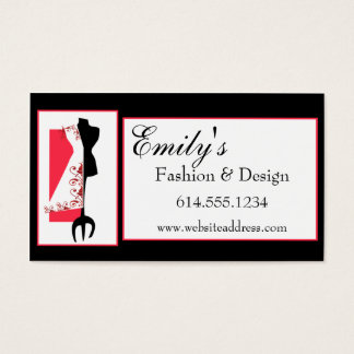 Dressmaker #2 D2 Fashion Sewing Business Cards