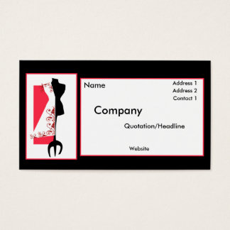 Dressmaker #2/Fashion Design Business Cards
