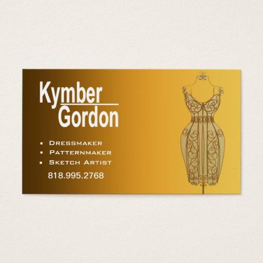 """Dressmaker Mannequin II"" - Patternmaker Seamtress Business Card"