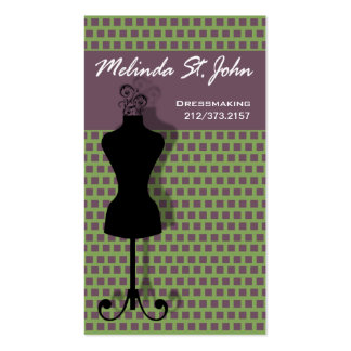 Dressmaker Mannequin Sewing Fashion Designer Double-Sided Standard Business Cards (Pack Of 100)