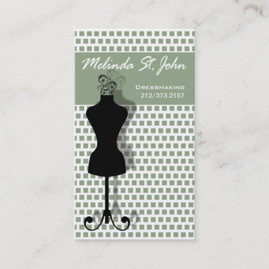 dressmaker mannequin sewing fashion designer business card - Fashion Designer Business Card