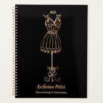 Dressmaker Seamstress Gold Glitter Mannequin Planner