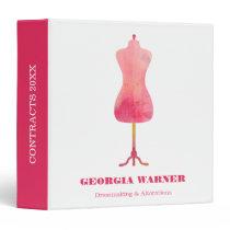 Dressmaker Seamstress Tailor Clothing Mannequin 3 Ring Binder