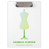 Dressmaker Seamstress Tailor Clothing Mannequin Clipboard