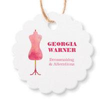Dressmaker Seamstress Tailor Clothing Mannequin Favor Tags