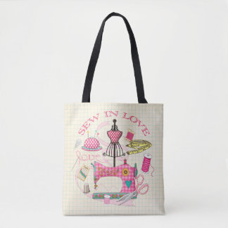 Dressmakers Sew in Love, sewing equipment bag