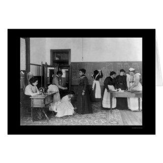 Dressmaking at the Hampton Institute, VA 1899 Card