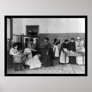 Dressmaking at the Hampton Institute, VA 1899 Poster