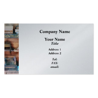 Dressmaking Supplies and Sewing Machine Business Card Templates