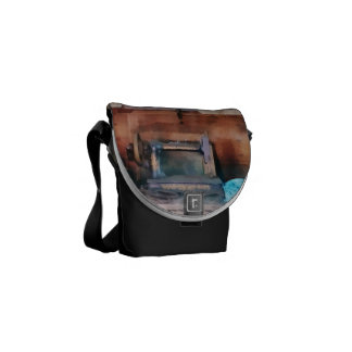 Dressmaking Supplies and Sewing Machine Messenger Bag