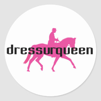 Dressurqueen - reina del dressage pegatina redonda