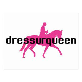 Dressurqueen - reina del dressage tarjeta postal