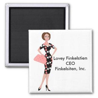 Dressy Dress 2 Inch Square Magnet