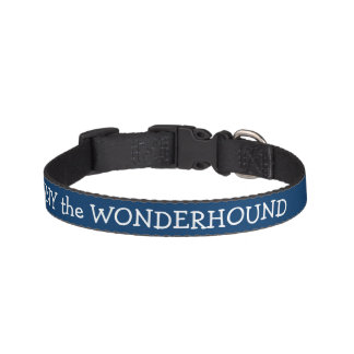 Dressy Midnight Blue Dog Collar Personalized