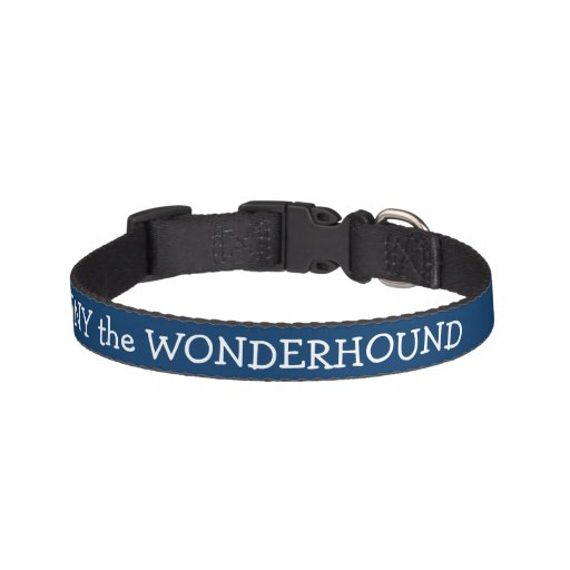 Dressy Midnight Blue Dog Collar Personalized Pet Collars