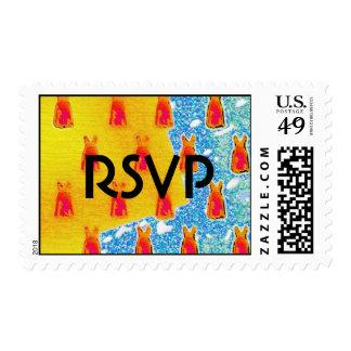 dressy RSVP` Postage Stamps