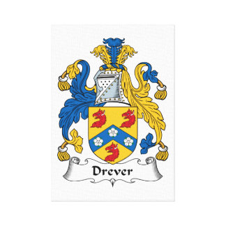 Drever Family Crest Gallery Wrapped Canvas