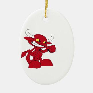 Drevil Little Devil Ceramic Ornament