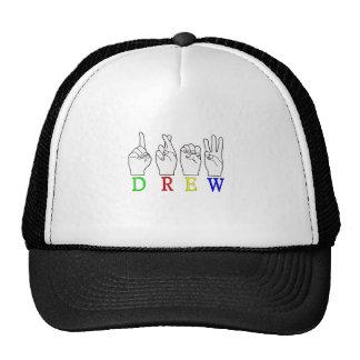 DREW ASL FINGER SPELLED TRUCKER HAT