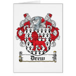 Drew Family Crest Greeting Cards