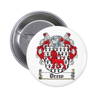 Drew Family Crest Pinback Button