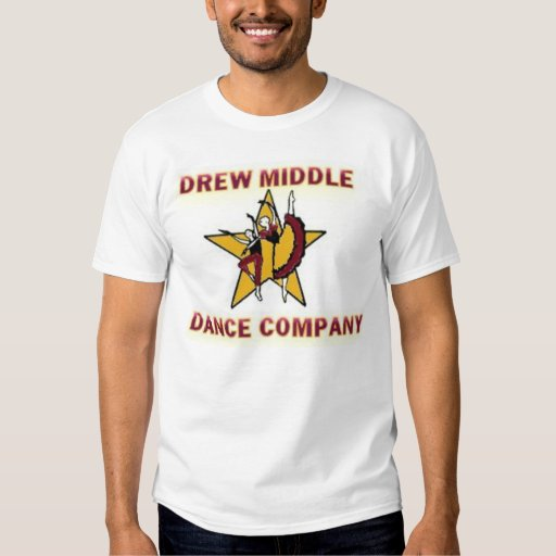 Drew middle dance company logo t shirt zazzle for Company logo on shirts