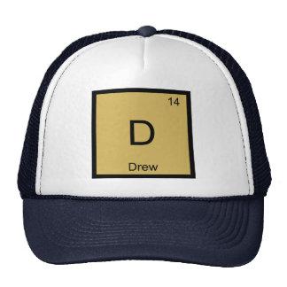 Drew Name Chemistry Element Periodic Table Trucker Hat