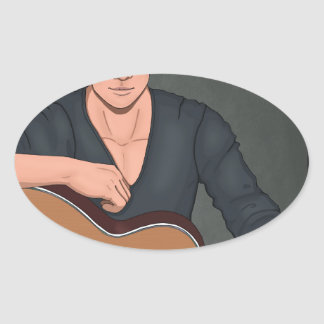Drew Oval Sticker