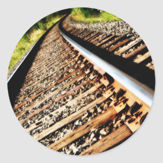 Drew Sullivan -  Railroad Tracks Classic Round Sticker