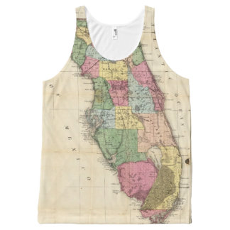 Drew's New Map Of The State Of Florida All-Over-Print Tank Top