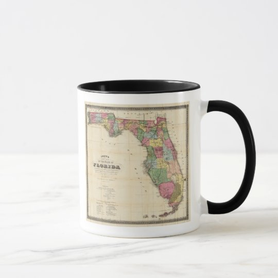 Drew's New Map Of The State Of Florida Mug