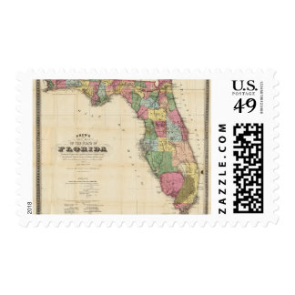 Drew's New Map Of The State Of Florida Postage