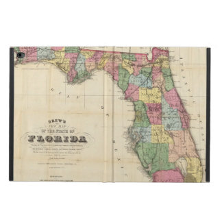 Drew's New Map Of The State Of Florida Powis iPad Air 2 Case