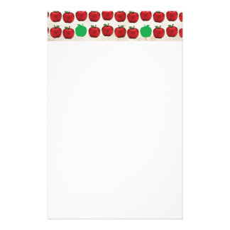 DRGA DELICIOUS RED GREEN APPLES FRUITS HEALTHY REA PERSONALIZED STATIONERY