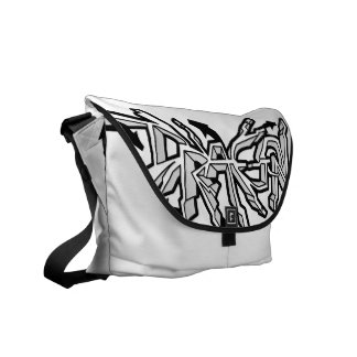 Drgn I Ivory (Black) Messenger Bag