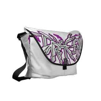 Drgn I Ivory (Purple) Messenger Bag