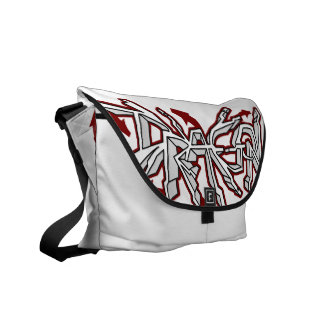 Drgn I Ivory (Red) Messenger Bag
